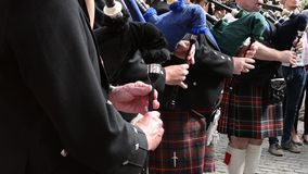 Bagpipe Band Singers stock video footage