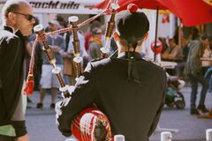 Bagpipe player Stock Photos
