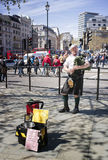 Bagpipe Player Busker, London, England Stock Photo