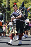 Bagpipe Player Stock Image