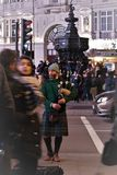 Bagpipe player piccadilly circus london Royalty Free Stock Photography