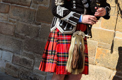 Bagpipe player Royalty Free Stock Images