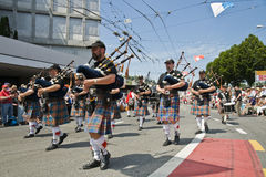 Bagpipe players Stock Photography