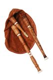 Bagpipe from Scotland over white Royalty Free Stock Photography