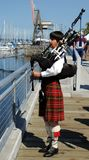 Bagpiper. At a habor festival in Olympia Washington Stock Photography