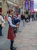 Bagpiper, Buchanan Street, Glasgow Stock Images