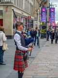 Bagpiper, Buchanan Street, Glasgow Royalty Free Stock Photos