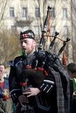Bagpiper, Budapest, Hungary Stock Photo