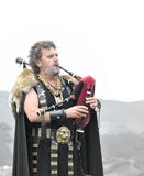 Bagpiper in Carabanzo. Royalty Free Stock Image