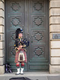 Bagpiper, Edinburgh royalty-vrije stock fotografie