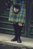 Bagpiper in Edinburgh, Scotland Royalty Free Stock Photography