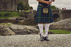 Bagpiper in Edinburgh, Scotland Royalty Free Stock Photos