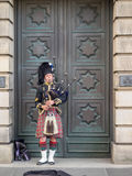Bagpiper, Edinburgh Royalty Free Stock Photography