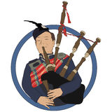 Bagpiper Royalty Free Stock Photography