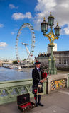 Bagpiper musician Stock Photos