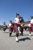 Bagpipers marching. Royalty Free Stock Photography