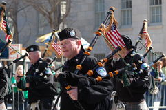 Bagpipers in New York City Saint Patrick's Parade Stock Photos