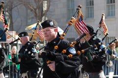 Bagpipers in New York City Saint Patrick's Parade Stock Photos