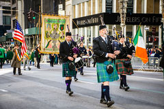 Bagpipers St Patric's Day Stock Photography