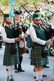 Bagpipes band Stock Image