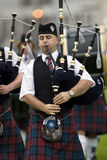Bagpipes - Hochland-Spiele - Schottland lizenzfreie stockfotografie