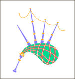 Bagpipes icon  illustration. Bagpipes icon. Cartoon illustration of bagpipes  icon for web Royalty Free Stock Images