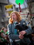 Bagpipes musician Royalty Free Stock Photos