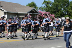 bagpipes at parade Royalty Free Stock Photo