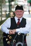 Bagpipes player Royalty Free Stock Images