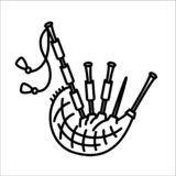 Bagpipes scotland native music instrument icon vector illustration vector illustration