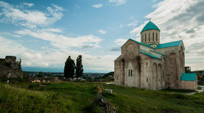 Bagrat大教堂在库塔伊西,乔治亚。 库存图片