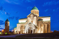 Bagrati Cathedral, Kutaisi. Bagrati Cathedral (or The Cathedral of the Dormition) at night in Kutaisi, the Imereti region of Georgia stock image