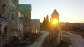 Bagrati cathedral standing in Kutaisi, sunset. sky, Georgia. med. Bagrati cathedral standing in Kutaisi , sunset. sky, Georgia. medieval monastic complex stock image