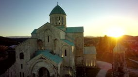 Bagrati cathedral standing in Kutaisi, sunset. sky, Georgia. med. Bagrati cathedral standing in Kutaisi , sunset. sky, Georgia. medieval monastic complex stock photography