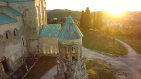 Bagrati cathedral standing in Kutaisi, sunset. sky, Georgia. med. Bagrati cathedral standing in Kutaisi , sunset. sky, Georgia. medieval monastic complex royalty free stock images