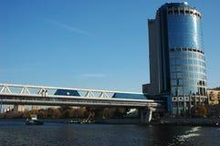 Bagration bridge. Modern bridge Bagration, Moscow Stock Image