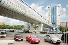 Bagration Bridge in Moscow Stock Photography