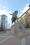 Bagrationmonument in Kutuzovskiy-vooruitzicht, Moskou Stock Foto's