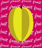 Baground dell'illustrazione della frutta di stella Immagine Stock