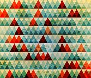 Baground retro do triângulo ilustração do vetor