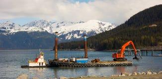 Bagrować schronienie w Alaska zdjęcia stock