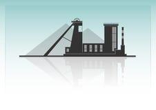 Bagrownica ładuje ciężarowego węgiel royalty ilustracja