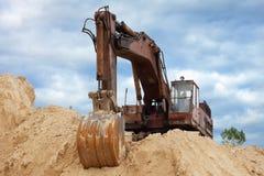 bagrownicy rozsypiska piasek Obrazy Royalty Free