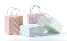 Bags. Photo of Various Color Shopping Bags - Gift Bags Royalty Free Stock Images