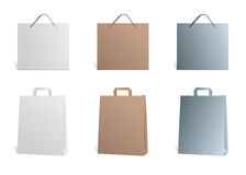 Bags. Different shopping bags, paper, plastic Royalty Free Stock Photos