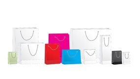 Bags. The paper bags on white Stock Photography