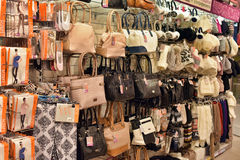 Bags and Accessories Store Stock Images
