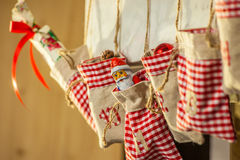 Bags of an advent calendar Stock Images