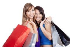 bags att shoppa för flickor royaltyfri bild