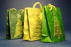 bags att shoppa för jul Royaltyfri Foto